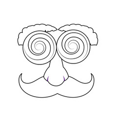 comic face design vector image vector image