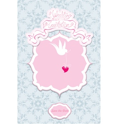 Greeting card with a lace ornament vector