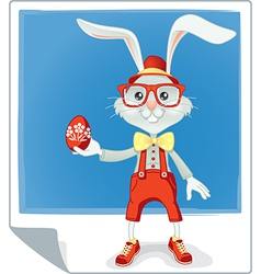 Hipster Easter Rabbit Cartoon vector image vector image