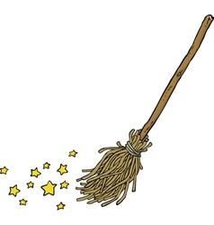 magic broom vector image vector image