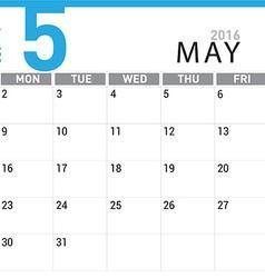 planning calendar May 2016 vector image