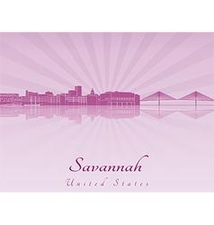 Savannah skyline in purple radiant orchid vector