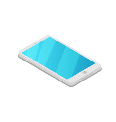 smartphone device isometric 3d icon vector image vector image