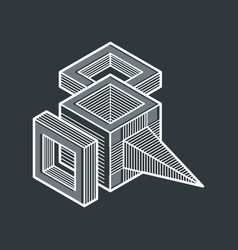 abstract isometric dimensional shape made using vector image vector image