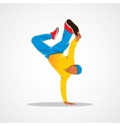 Breakdance silhouette man vector image