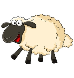 Cute sheep cartoon vector image vector image