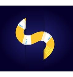 Yellow paper stripe vector image