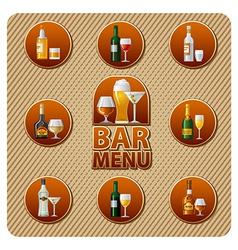 bar menu icon vector image