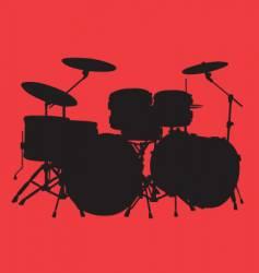 drum kit vector image vector image