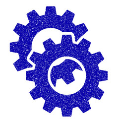 gears icon grunge watermark vector image vector image