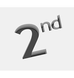 2nd number design vector image