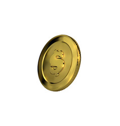 3d golden coin with dollar sign vector image