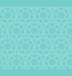 abstract circle pattern seamless background blue vector image