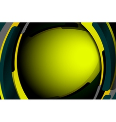 Abstract geometric wavy green background vector