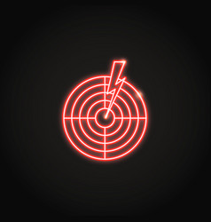 Aches and pains concept neon icon in line style vector