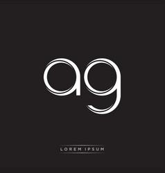 Ag initial letter split lowercase logo modern vector
