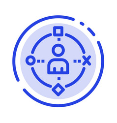 Ambient user technology experience blue dotted vector