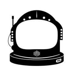 Astronaut space helmet icon vector