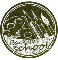 back to school abstract round design in grunge vector image