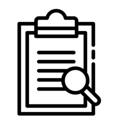 Blank and magnifier icon outline style vector