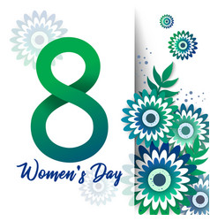 Bright spring banner international womens day vector