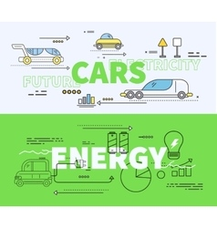 Car of Future Energy Electricity vector image