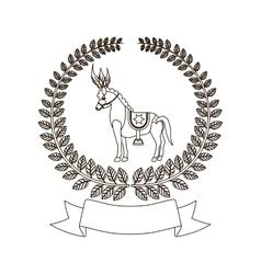 Circus horse cartoon vector