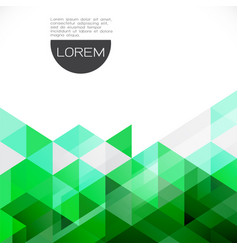 Colorful green transparency and overlapping vector