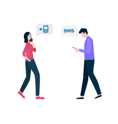 Communication with phone sms and call vector