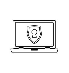 Computer lock security privacy vector