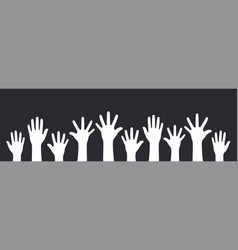 concept of raised hands up vector image