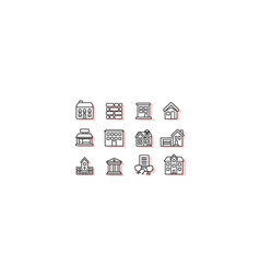 Construction icon sets vector