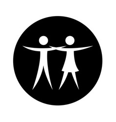Couple figure silhouette icon vector