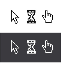Cursors set Arrow clock hand vector