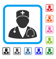 doctor framed icon vector image