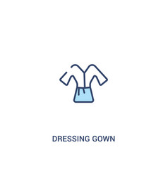 dressing gown concept 2 colored icon simple line vector image