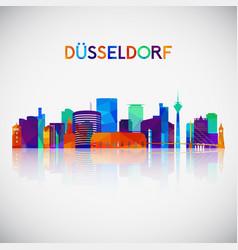dsseldorf skyline silhouette vector image