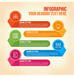 education infographic in colorful horizontal bars vector image