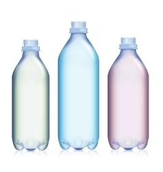 Empty Transparent Bottle Set Realistic Blank vector image vector image