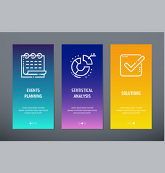 events planning statistical analysis solutions vector image
