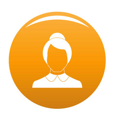 Female user icon orange vector