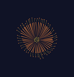 firework or anniversary bursting firecracker vector image