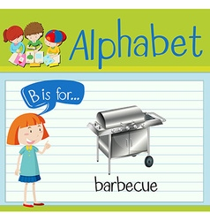 Flashcard letter B is for barbecue vector