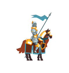 Flat icon middle ages knight sitting on vector