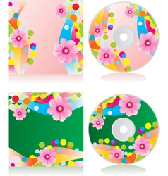 flowers cd vector image