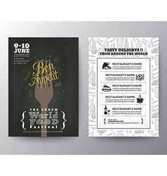 food festival poster brochure flyer design layout vector image