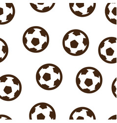 football ball pattern seamless isolated vector image