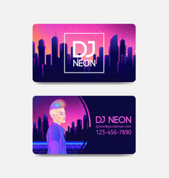 futuristic synth wave style retroparty flyer vector image
