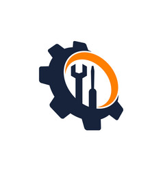 gear repair service vector image