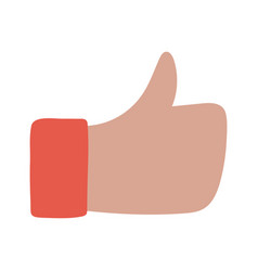 hand like social media network isolated on white vector image